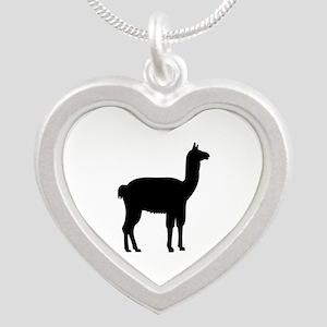 Llama Silver Heart Necklace