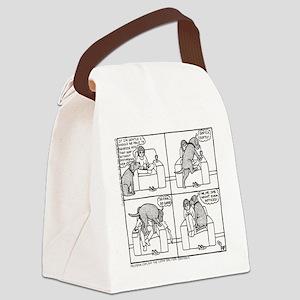 Softly Softly Poppy - Canvas Lunch Bag