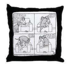 Softly Softly Poppy - Throw Pillow