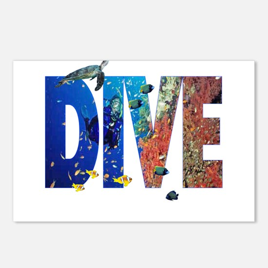Scuba Dive! Postcards (Package of 8)