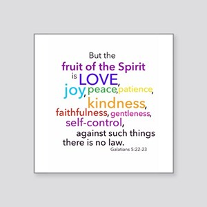 "Fruits of the Spirit Square Sticker 3"" x 3"""