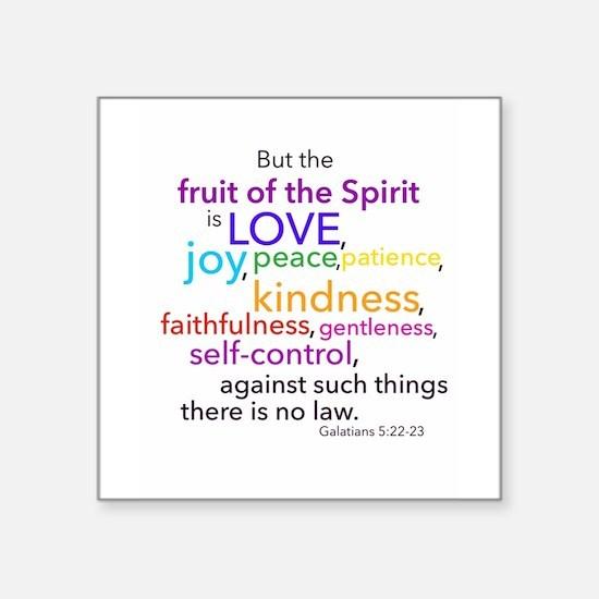 "Fruits of the Spirit Square Sticker 3"" x 3"""