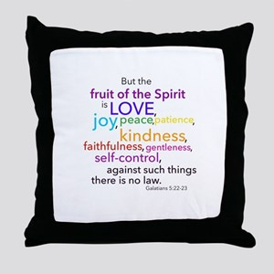 Fruits of the Spirit Throw Pillow