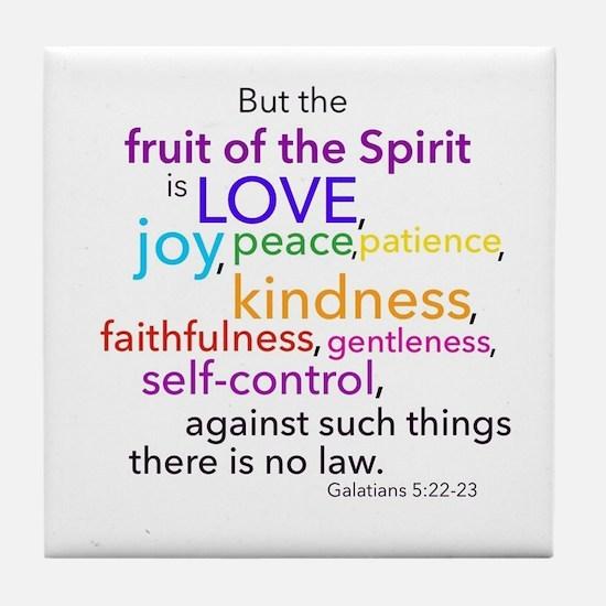 Fruits of the Spirit Tile Coaster