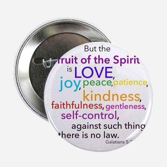 """Fruits of the Spirit 2.25"""" Button"""