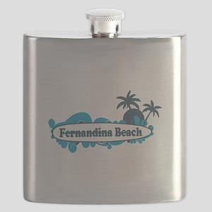 Fernandina Beach - Surf Design. Flask