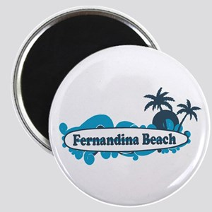 Fernandina Beach - Surf Design. Magnet