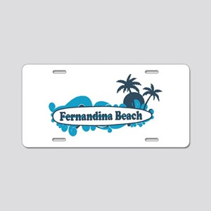 Fernandina Beach - Surf Design. Aluminum License P