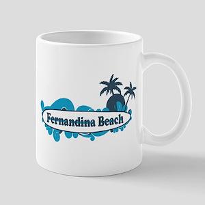 Fernandina Beach - Surf Design. Mug
