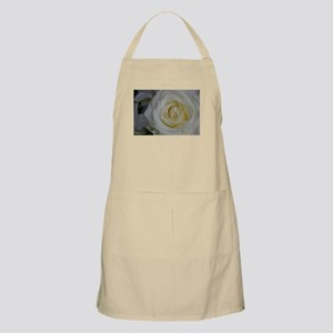white rose photo Apron