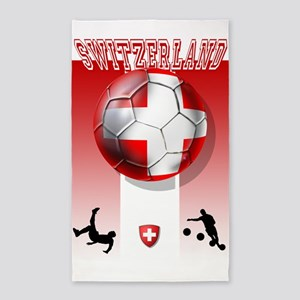 Switzerland Soccer 3'x5' Area Rug