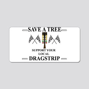 Save A Tree Aluminum License Plate