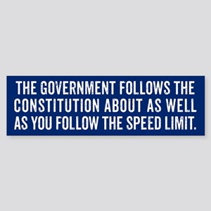 Constitution and Speed Limit Bumper Sticker