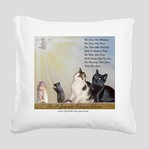 Purrayer Warriors Square Canvas Pillow