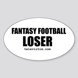 """LOSER"" Oval Sticker"