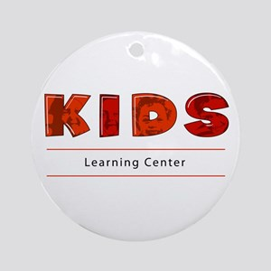 Kids Learning Center Logo3 Stuff Ornament (Round)