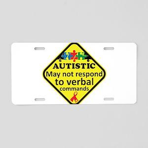 Autistic Aluminum License Plate
