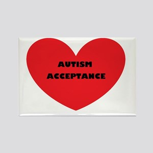 Autism Acceptance Heart Rectangle Magnet