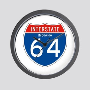 Interstate 64 - IN Wall Clock