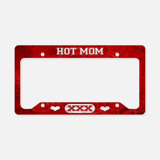 Hot Mom Red License Plate Holder