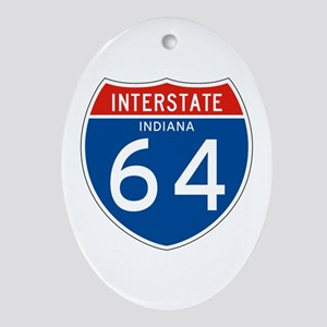 Interstate 64 - IN Oval Ornament
