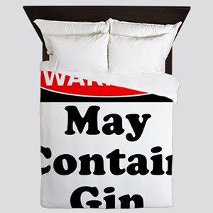 Warning May Contain Gin Queen Duvet