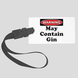 Warning May Contain Gin Luggage Tag