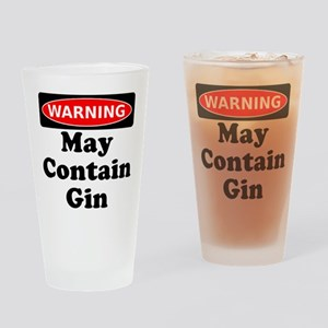 Warning May Contain Gin Drinking Glass