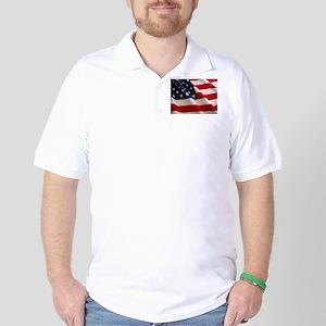 American Flag - Patriotic USA Golf Shirt