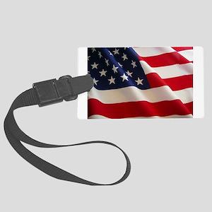 American Flag - Patriotic USA Large Luggage Tag