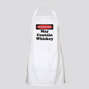 Warning May Contain Whiskey Apron