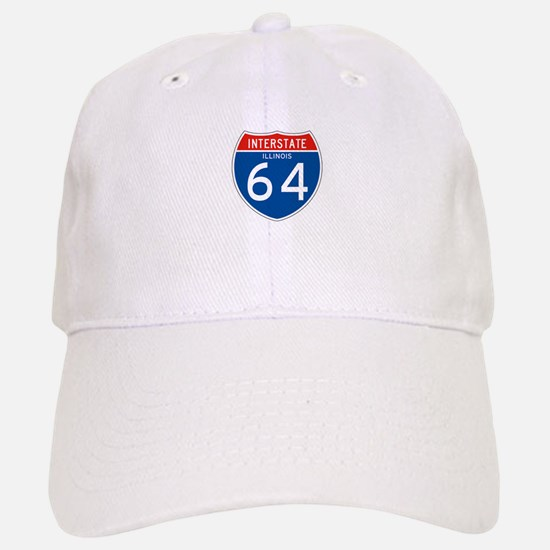 Interstate 64 - IL Baseball Baseball Cap