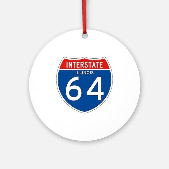 Interstate 64 - IL Ornament (Round)
