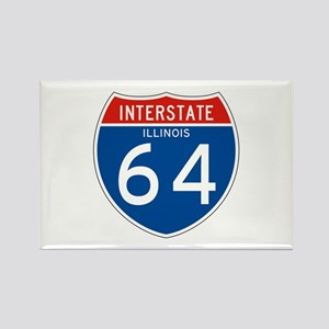 Interstate 64 - IL Rectangle Magnet
