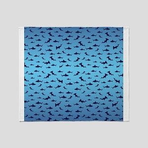 Sharks Sharks and More Sharks Throw Blanket