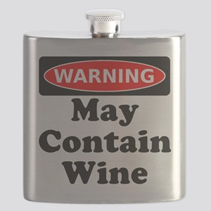 Warning May Contain Wine Flask
