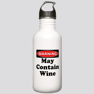 Warning May Contain Wine Water Bottle