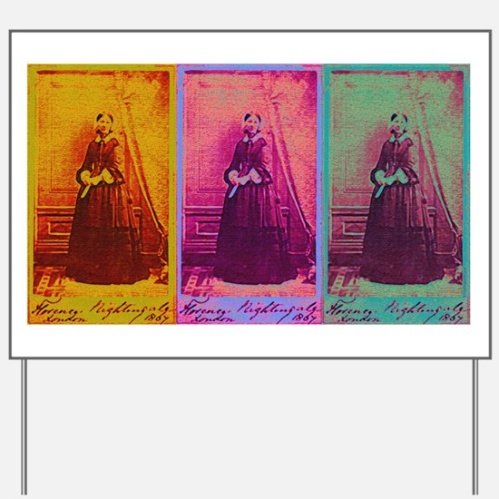 Florence Nightingale Colors Yard Sign