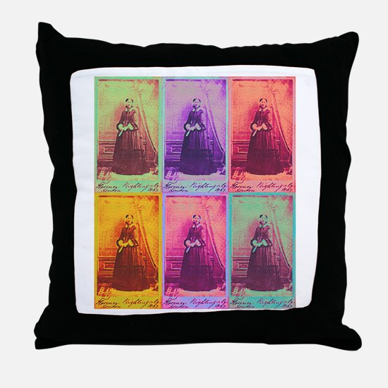 Florence Nightingale Colors Throw Pillow
