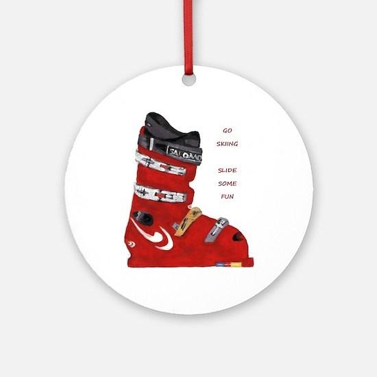 ski boot Ornament (Round)