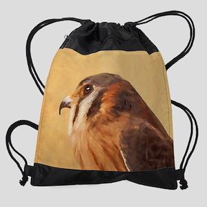 American Kestrel Drawstring Bag