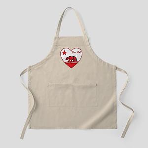 love nor cal bear red Apron