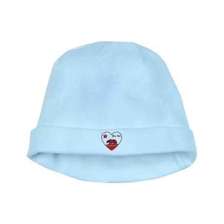love nor cal bear red baby hat