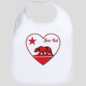 love nor cal bear red Bib