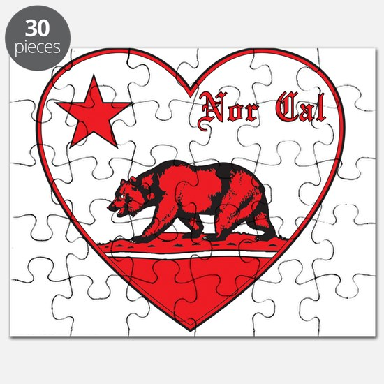 love nor cal bear red Puzzle