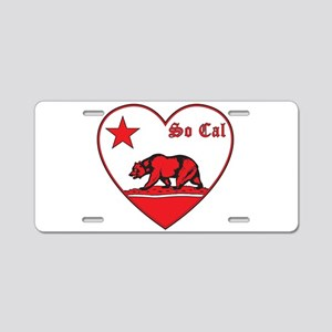 love so cal bear red Aluminum License Plate