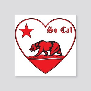 love so cal bear red Sticker