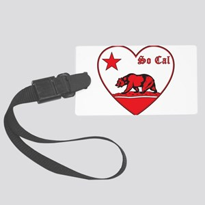 love so cal bear red Luggage Tag