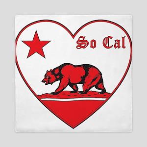 love so cal bear red Queen Duvet