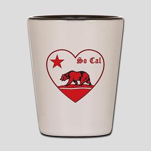 love so cal bear red Shot Glass